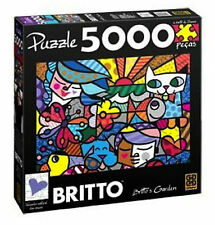 ROMERO BRITTO  GARDEN PUZZLE 5000 PIECES (SIZE: 4.5 FT x 3 FT) SHIPPING FROM USA