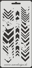 SCRAPBOOKING Stencil s-005 FRECCE ~ Stencil ~ UMR-DESIGN