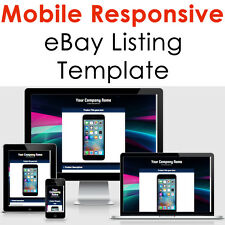 Ebay Mobile Listing Responsive Template Auction Professional Html Design