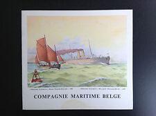 Ancien menu Paquebot Léopoldville 1959 Compagnie maritime belge