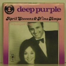"APRIL STEVENS & NICO TEMPLE 'DEEP PURPLE' EU IMPORT PICTURE SLEEVE 7"" SINGLE"