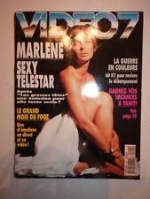 Magazine VIDEO 7 french #145 juin 1994 cover Marlene sexy star