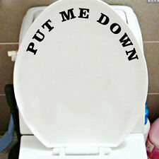 Put Me Down Toilet Bathroom Decal Funny Sticker Vinyl Wall Art Potty Training