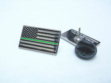 THIN GREEN LINE US STATES AMBULANCE EMS MEDIC PARAMEDIC MOURNING BAND PIN BADGE