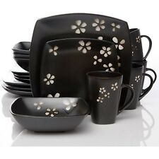Better Homes and Gardens Sylvan Springs 16-Piece Dinnerware Set