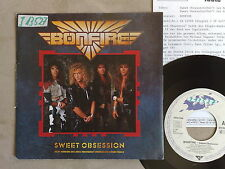 "BONFIRE – SWEET OBSESSION - 45 GIRI 7"" WITH GERMAN PROMO SHEET"