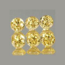 3mm 6pc Set Round Cut Accent Natural A Yellow CITRINE
