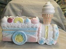 Vintage Napcoware Ceramic Ice Cream and Treats Train Planter 8573 Made in Japan
