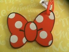 Disney Minnie  Polka Dot Bow Luggage Tag New
