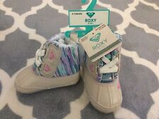 ROXY Infant Booties Fuzzy Lined Sz: 6-12 Mos NWT