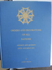 ORDERS AND DECORATIONS OF ALL NATIONS SIGNED FIRST ED HC BOOK ROBERT WERLICH