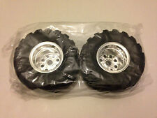 Tamiya 9805618/19805618 Wild Willy 2/Mad Bull Front Wheels & Tyres (1 Pair) NIP