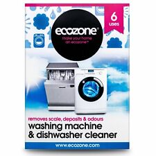 Ecozone Washing Machine and Dishwasher Cleaner x 6 (Pack of 2 Total 12 Uses)