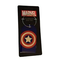 Marvel Comics  Captain America Aluminum  Luggage Bag Tag ID Holder Steel Cable