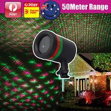 Star Light RED GREEN Shower Laser LED MOTION Projector Outdoor Garden Christmas