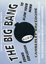 THE BIG BANG Rave Flyer Flyers 15/12/94 A4 The Agincourt Camberley Ravedome
