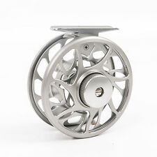 5/6 Weight CNC Machine Cut Fly Reel Silver Large Arbor Aluminum Fly Fishing Reel