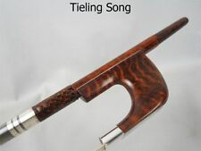 German-style Professional Marstro snakewood 3/4 double bass bow,Copper mounted