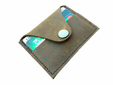 London Design Boho Syle Distressed Leather Card Holder Wallet