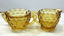 Fostoria American Amber Sugar and Creamer Set Beautiful Collectible Tea Coffee