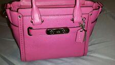 NWT Authentic COACH SV/Dahlia Pink SWAGGER 21 Handbag+ Free USA Shipping REDUCED