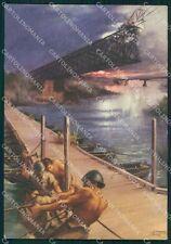 Militari II Reggimento Pontieri del Genio Tafuri FG cartolina XF3738
