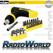 Rolson 26 Piece Ratchet T-Handle Bit & Socket Set Handy Diy Tool Repair 28433