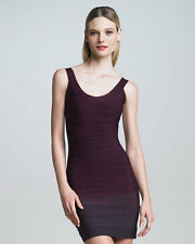 NWT Herve Leger Scoop Neck Katie Bandage Bordeaux Maroon Purple S Tank Top Small