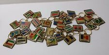 Lot of 31 Key Chain Rings Different Cities / Countries Same Style USA MONACO