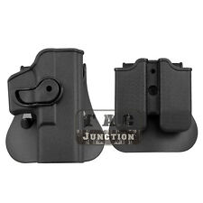 Tactical Retention Rotate Right Hand Holster For Glock 19 23 32 w/Magazine Pouch