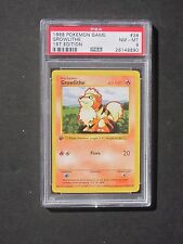 Pokemon PSA 8 1ST EDITION GROWLITHE 28/102 Base Set Shadowless - NM/MINT