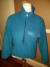 Amazing Womens Deep Teal Color Pullover Fleece Jacket by Patagonia!! Size XS !!!