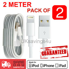 2x 2M 100% for Apple charger USB Data cable for iPhone 6 5C/S iPod Nano Touch