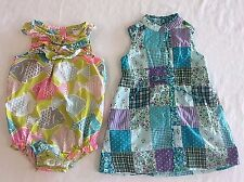 Lot 2 Baby 24 Months Girl Dress Romper Gap Carters Fish Patchwork Summer Spring