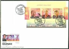 GUINEA 2013 70th BIRTH  ANNIVERSARY OF JOHNNY HALLYDAY  SHEET  FIRST DAY COVER