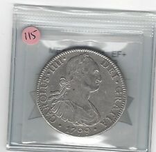 **1799 FM**Mexico, Silver 8 Reales, Coin Mart Graded **EF+**KM #109 (#115)