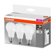 3er-Pack Osram LED BASE A60 E27 9W 2700K Warmweiß LED Lampe 60W Glühbirne