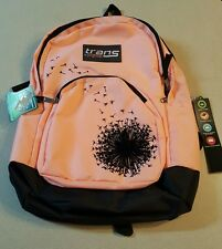 New Trans by JanSport  Dandelion Silhouette Girls Backpack Coral/ Peach