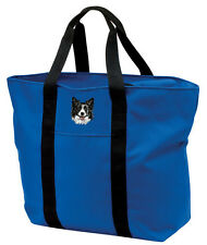 Border Collie Embroidered All Purpose Tote