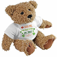 Kiss me i am not irish je suis juste ours mignon-st patricks day irlandais cadeau teddy