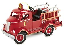 A Pedal Car 1940s Ford Fire Engine Red Truck Vintage T Midget Metal Show Model