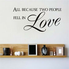 Love Quote Wall Sticker All Because Two People Fall In Vinyl Home Decor Decal
