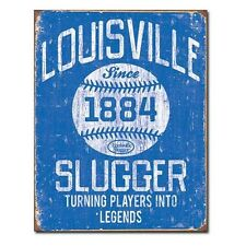 Vintage Replica Tin Metal Sign Louisville Slugger 1884 baseball ball bat 1867