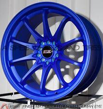 18X9 STR 518 5X114.3/120 RIM +30MM BLUE WHEEL FITS ACURA RSX 2002-2006