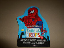 Spider-Man Non-Toxic Bathtub Color Drops~8 Water Coloring Tablets~NEW IN PACKAGE