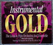 Instrumental Gold 3 cd The London Pops Orchestra & Ensemble 50s/60s/70s RARE OOP