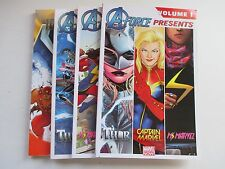 LOT OF 4 MARVEL A-FORCE PRESENTS 100TH ANN TPB'S 2015 MS. MARVEL SHE-HULK THOR