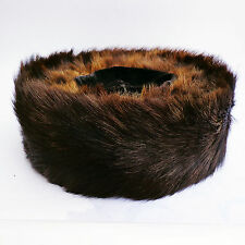 AUTHENTIC CHASIDIC SHTREIMEL REAL FUR HAT HASIDIC RABBI JEWISH WITH ORIGINAL BOX