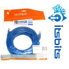 HYPERTEC 10m CAT5e BLUE COMPUTER NETWORK LAN  PATCH CABLE 2 X RJ45 CONNECTIONS