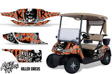 EZ GO Golf Cart Wrap Graphics Vinyl Sticker Decal Kit EZGO 1996-2010 CIRCUS ORNG